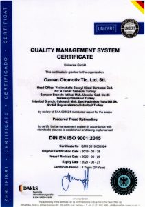 QUALİTY MANAGEMENT SYSTEM CERTIFICATE